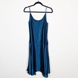 Marc Jacobs | blue 100% silk eyelet dress